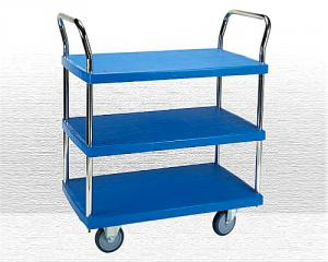 3 Shelf Plastic Trolley(PHL-423GS)